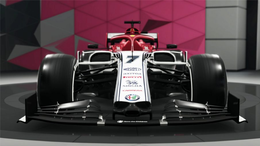 Alfa Rome F1 car in F1 2019 game by Codemasters