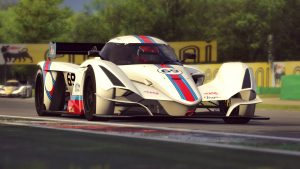 Praga R1 in Assetto Corsa racing sim at Monza
